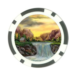 Brentons Waterfall - Ave Hurley - ArtRave - Poker Chip (10 Pack)