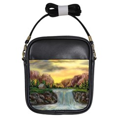 Brentons Waterfall   Ave Hurley   Artrave   Girl s Sling Bag by ArtRave2