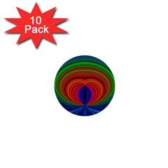 Design 1  Mini Button (10 Pack) by Siebenhuehner