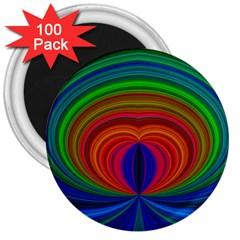 Design 3  Button Magnet (100 Pack) by Siebenhuehner