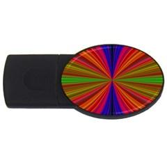 Design 4gb Usb Flash Drive (oval) by Siebenhuehner