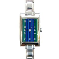 Strips Rectangular Italian Charm Watch by Siebenhuehner