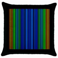 Strips Black Throw Pillow Case by Siebenhuehner