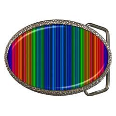 Strips Belt Buckle (oval) by Siebenhuehner
