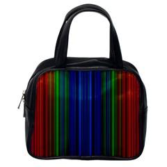 Strips Classic Handbag (one Side) by Siebenhuehner