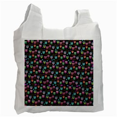 Happy Owls Recycle Bag (one Side) by Ancello