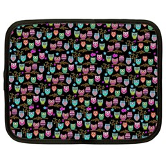 Happy Owls Netbook Case (xl) by Ancello