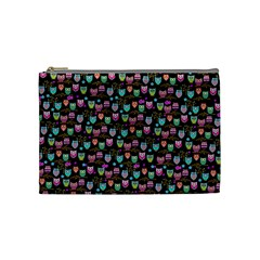 Happy Owls Cosmetic Bag (medium) by Ancello