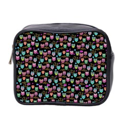 Happy Owls Mini Toiletries Bag (two Sides) by Ancello