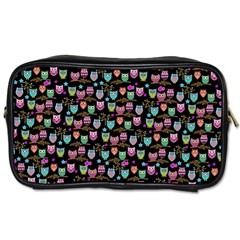 Happy Owls Toiletries Bag (two Sides) by Ancello