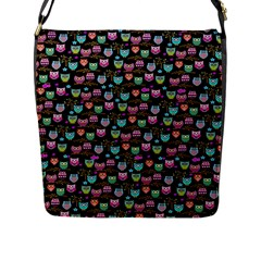 Happy Owls Flap Closure Messenger Bag (large) by Ancello