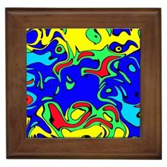 Abstract Framed Ceramic Tile by Siebenhuehner