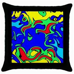 Abstract Black Throw Pillow Case by Siebenhuehner