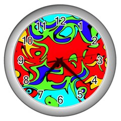 Abstract Wall Clock (silver) by Siebenhuehner