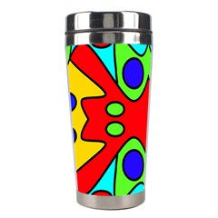 Abstract Stainless Steel Travel Tumbler by Siebenhuehner