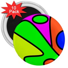 Abstract 3  Button Magnet (10 Pack) by Siebenhuehner