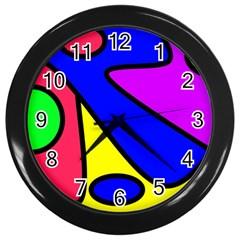 Abstract Wall Clock (black) by Siebenhuehner