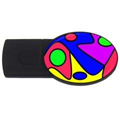 Abstract 2gb Usb Flash Drive (oval) by Siebenhuehner