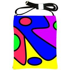 Abstract Shoulder Sling Bag by Siebenhuehner