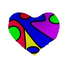 Abstract 16  Premium Heart Shape Cushion  by Siebenhuehner