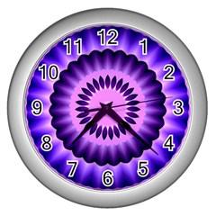 Mandala Wall Clock (silver) by Siebenhuehner