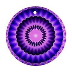 Mandala Round Ornament (two Sides) by Siebenhuehner