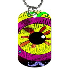 Abstract Dog Tag (one Sided) by Siebenhuehner