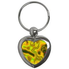 Abstract Key Chain (heart) by Siebenhuehner