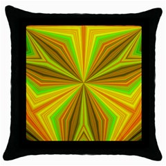 Abstract Black Throw Pillow Case