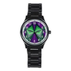 Abstract Sport Metal Watch (black) by Siebenhuehner