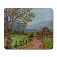 amish Buggy Going Home  By Ave Hurley Of Artrevu   Large Mousepad by ArtRave2