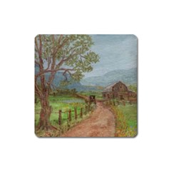 amish Buggy Going Home  By Ave Hurley Of Artrevu   Magnet (square) by ArtRave2
