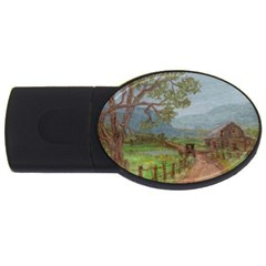 Amish Buggy Going Home  by Ave Hurley of ArtRevu ~ USB Flash Drive Oval (1 GB) by ArtRave2