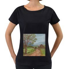 amish Buggy Going Home  By Ave Hurley Of Artrevu   Women s Loose Fit T Shirt (black)