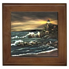 bridget s Lighthouse   By Ave Hurley Of Artrevu   Framed Tile by ArtRave2