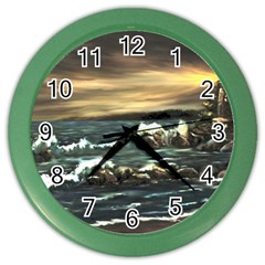 bridget s Lighthouse   By Ave Hurley Of Artrevu   Color Wall Clock by ArtRave2