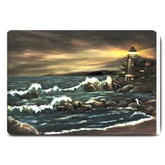 bridget s Lighthouse   By Ave Hurley Of Artrevu   Large Doormat by ArtRave2