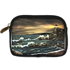 bridget s Lighthouse   By Ave Hurley Of Artrevu   Digital Camera Leather Case by ArtRave2