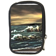 bridget s Lighthouse   By Ave Hurley Of Artrevu   Compact Camera Leather Case by ArtRave2