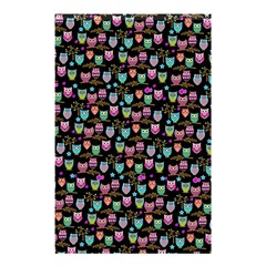 Happy Owls Shower Curtain 48  X 72  (small) by Ancello