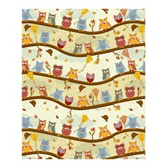 Autumn Owls  Shower Curtain 60  X 72  (medium) by Ancello