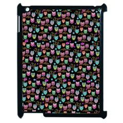Happy owls Apple iPad 2 Case (Black) by Ancello