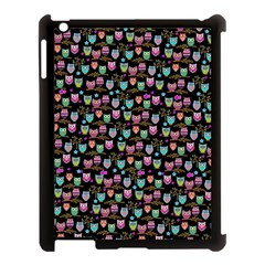 Happy Owls Apple Ipad 3/4 Case (black) by Ancello