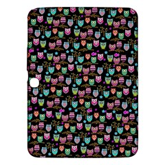 Happy Owls Samsung Galaxy Tab 3 (10 1 ) P5200 Hardshell Case  by Ancello