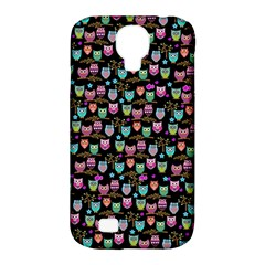 Happy Owls Samsung Galaxy S4 Classic Hardshell Case (pc+silicone) by Ancello