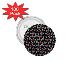 Happy Owls 1 75  Button (100 Pack) by Ancello