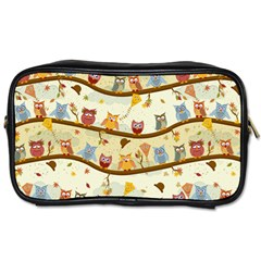 Autumn Owls Travel Toiletry Bag (one Side) by Ancello