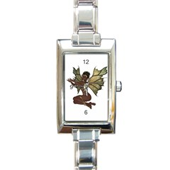 Faerie Nymph Fairy With Outreaching Hands Rectangular Italian Charm Watch by goldenjackal