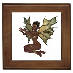 Faerie Nymph Fairy With Outreaching Hands Framed Ceramic Tile by goldenjackal
