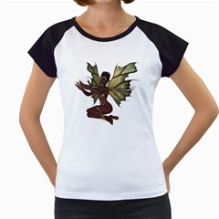 Faerie Nymph Fairy With Outreaching Hands Women s Cap Sleeve T Shirt (white) by goldenjackal